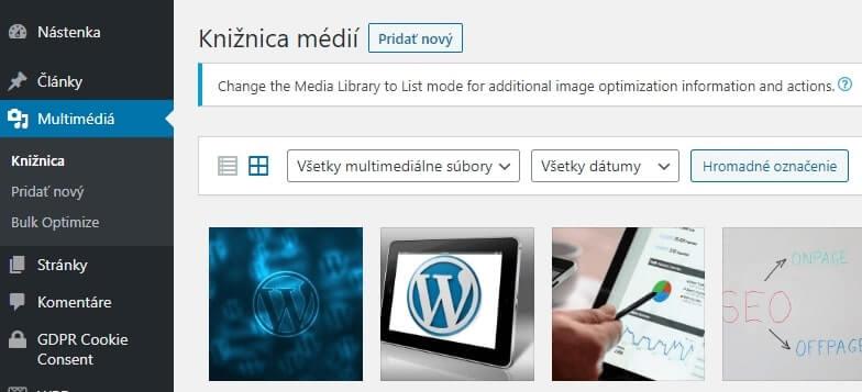 Ako nahrať obrázok do WordPressu