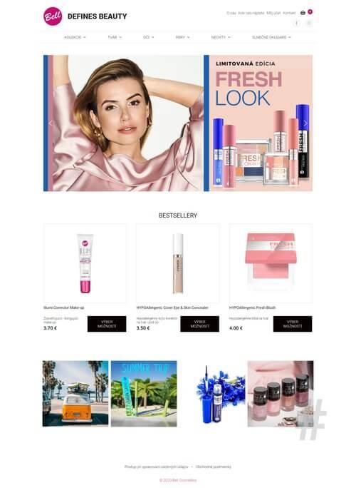 tvorba webových stránok Bell Cosmetics